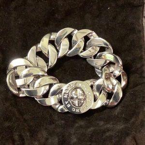 Marc Jacobs silver tone chunky bracelet